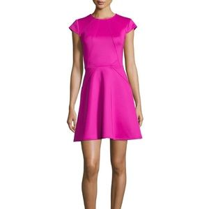 Ted Baker pink fit n flare dress size 1 0-2